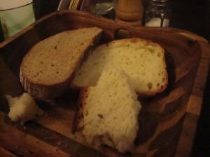 Das weißes Brot.
